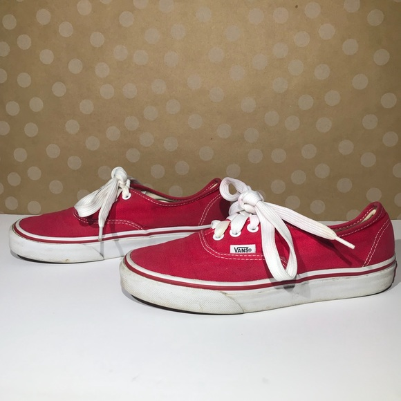 42c2a0e5c2 VANS Authentic Red Classic Lace Up. M 5a80c57c8290afe335b23868